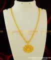DCHN081 - Unique Designer Party Wear Floral Gold Pendant Design Buy Online