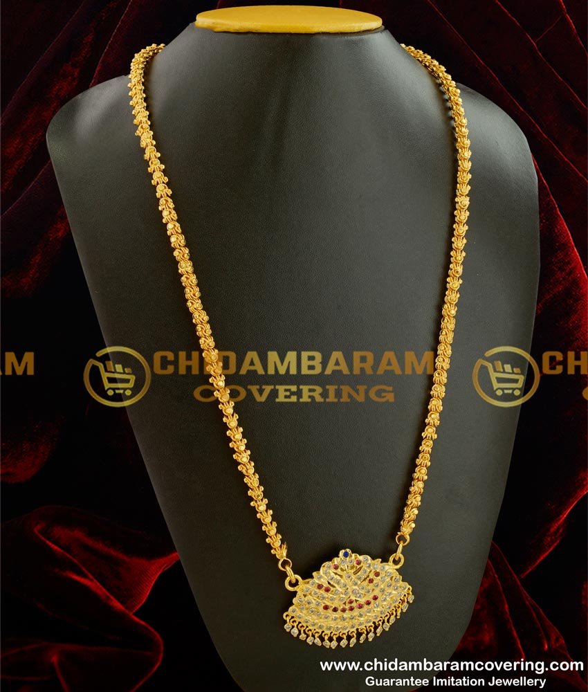 DLR005 - Thick Metal Copper Handmade Getti Item Gold Plated Attigai South Indian Jewellery Shopping