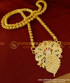 DLR009 - Beautiful Big Floral Design Stone Pendant Impon Jewellery Online Shopping