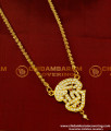 DLR015 - Impon Tamil OM Pendant Design with Jasmine Chain Traditional Impon Jewellery Online