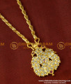 DLR021 - Beautiful Impon 1 Gram Jewellery Party Wear Double Side Peacock Pendant With Chain Online