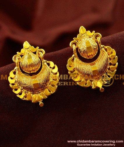 ERG004 - Beautiful Kerala Pattern Medium Size Daily Wear Imitation Ear Rings