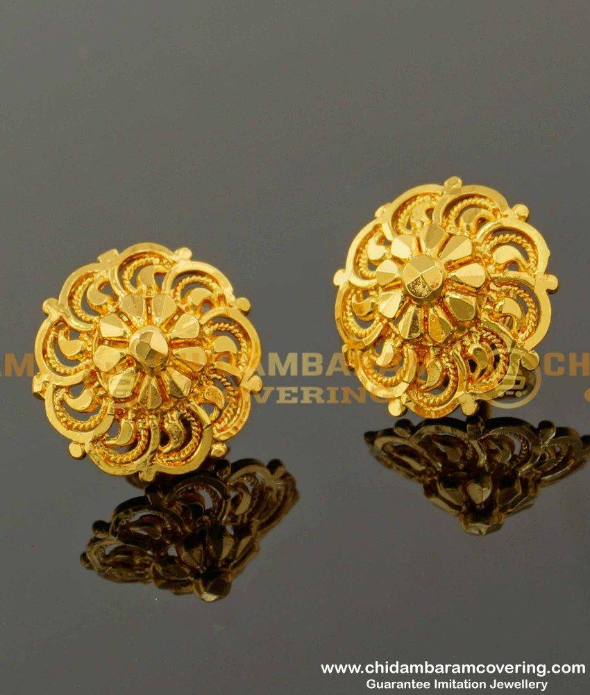ERG099 – Trendy Big Size Daily Wear Stud Design Imitation Earrings Online