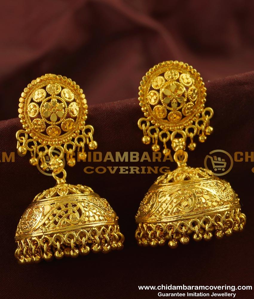ERG130 - Latest Bridal Wear Collection Big Jhumkas Buy Online