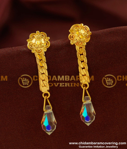 ERG143 - Swarovski Crystal Long Drop Earrings Gold Plated Jewelry Online