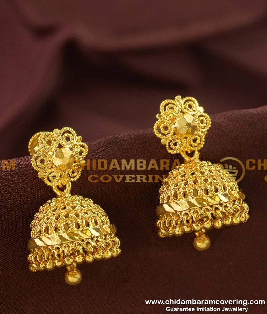 ERG153 - Traditional Jhumkas Designs Imitation Jewellery Online Shopping