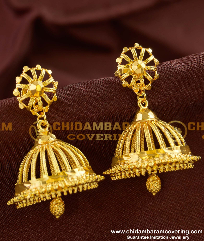ERG156 – Gold Plated Large Umbrella Jhumkas For New Brides