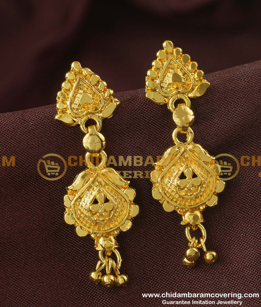 ERG178 - Traditional Design Dangler Daily Wear Earring Collections Online