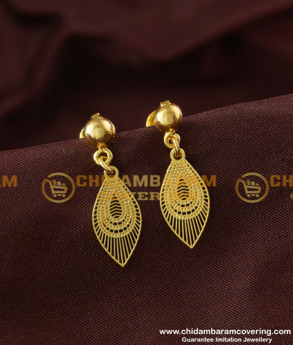 ERG179 - Beautiful Small Size Peacock Feather Mini Earrings Design for Kids