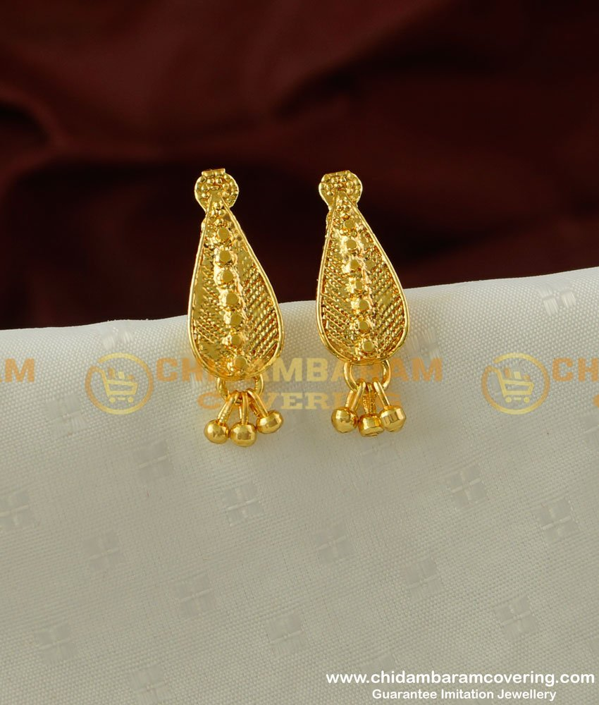ERG210 - Simple Daily Wear Gold Style Stud Earring Designs Online