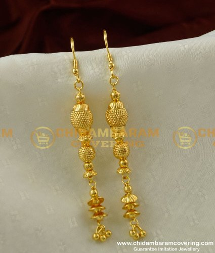 ERG212 - Fashionable Very Long Dangle Earring for Special Occasion