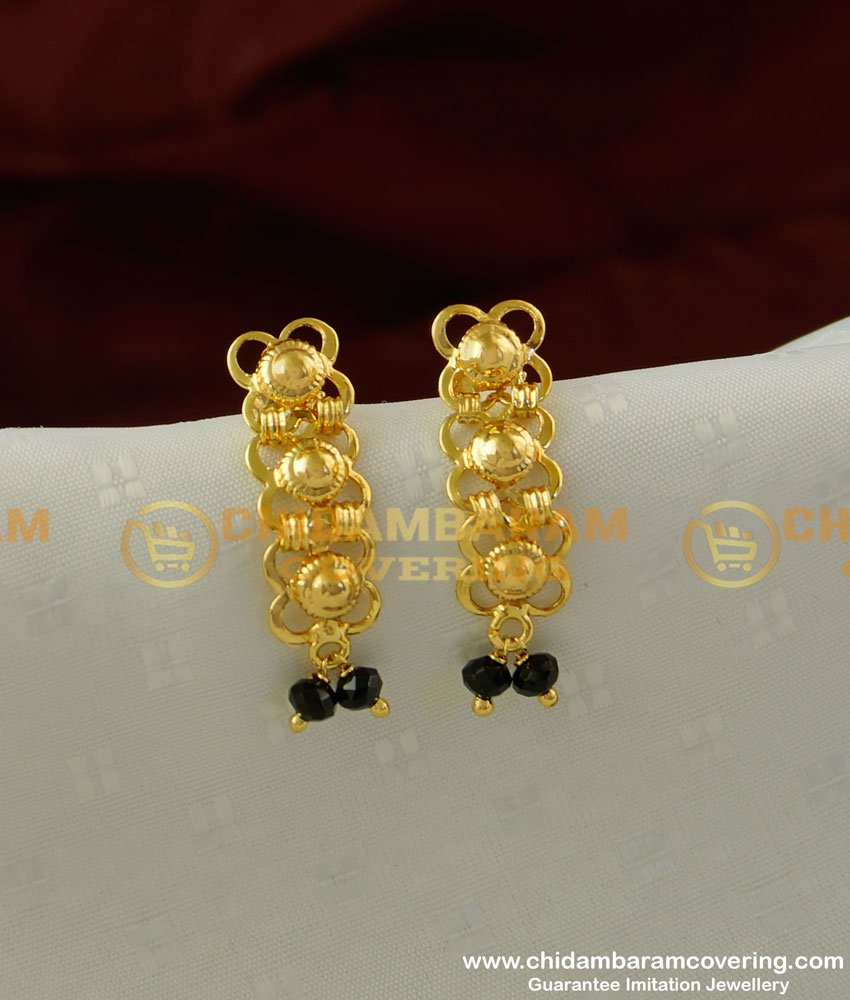 ERG216 - Light Weight Gold Plated Fancy Crystal Earring Design Online