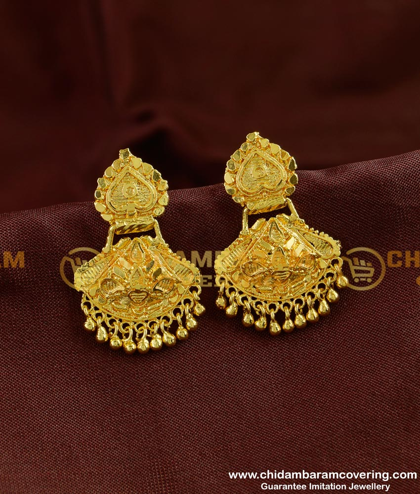 ERG254 - Traditional Design Dangler Earring Gold Plated Dangler Collection Online