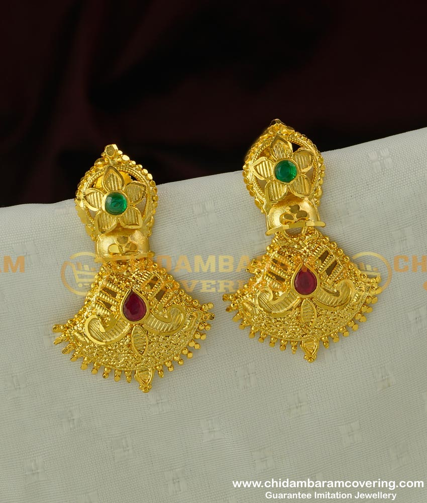 ERG286 - Beautiful Gold Finish Forming Gold Earrings for Girls