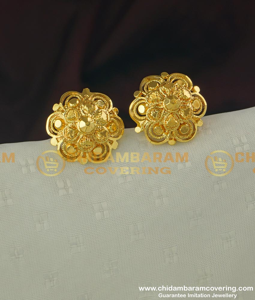 ERG313 - Classical Design Flower Stud Gold Covering Jewelry for Women