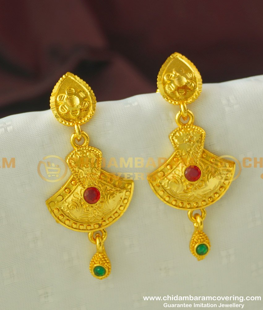 ERG330 - Buy Forming Gold Plated New Pattern Danglers Earring Shop Online