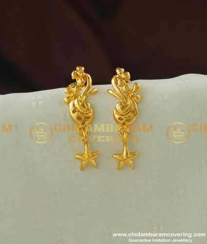 ERG338 - Trendy Gold Plated Fashion Daily Wear Earring for School Girls