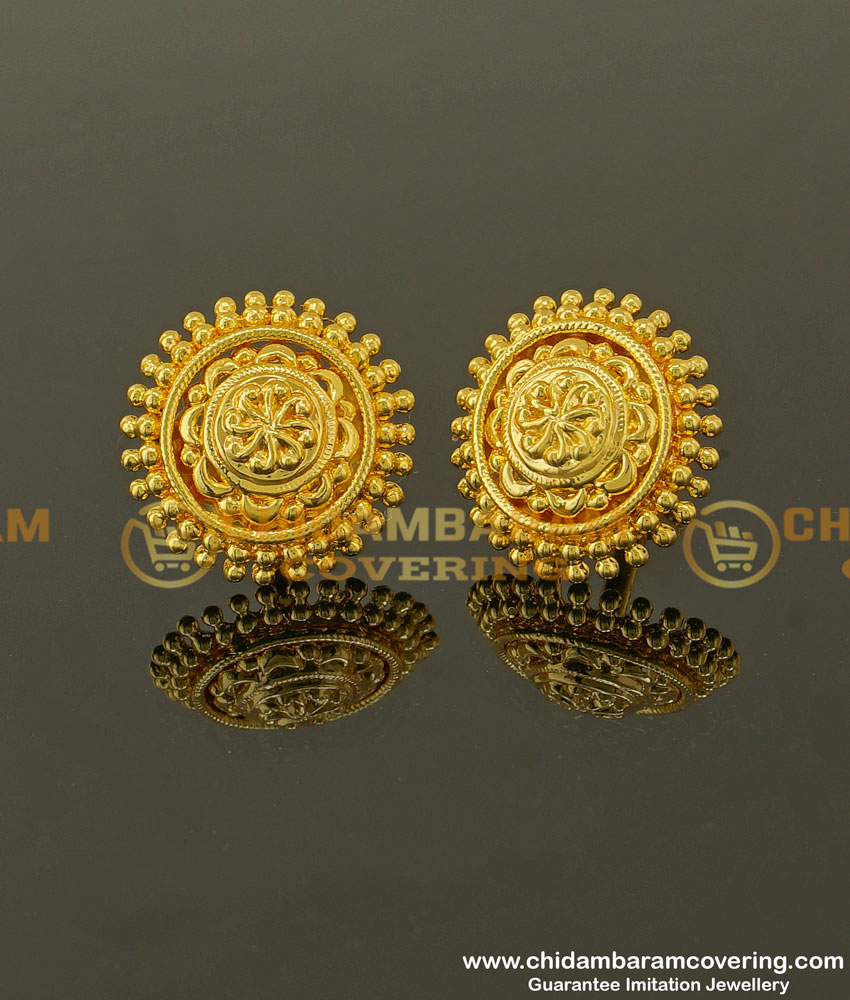 ERG350 - Traditional Flower Design Studs for Women Micro Plating Jewelry Buy Online