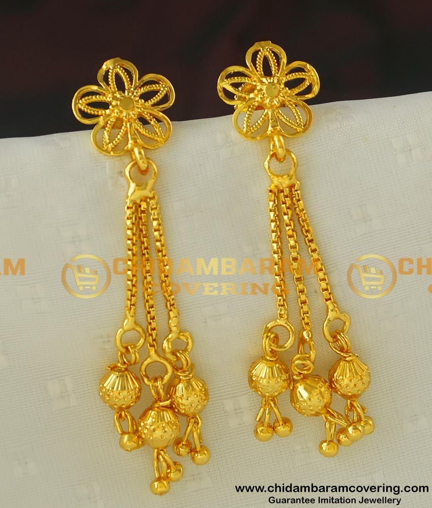 ERG416 - New Party Wear Western Earring Designs Gold Plated Best Earring Collections Online