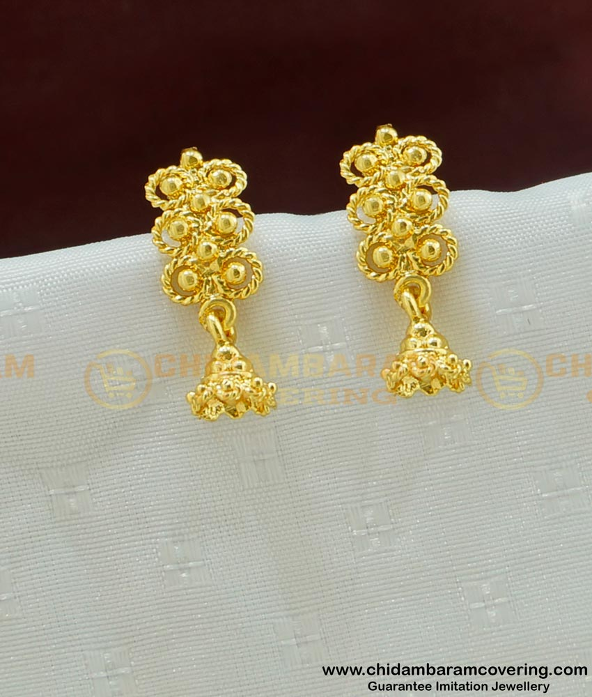 ERG461 - Cute Light Weight Gold Design Trendy Earrings Gold Plated Jewelry