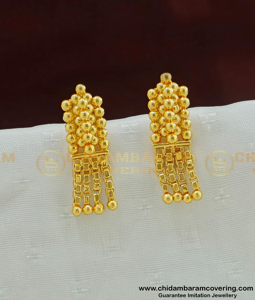 ERG471 - Simple Design Light Weight Gold Plated Small Earring for Kids