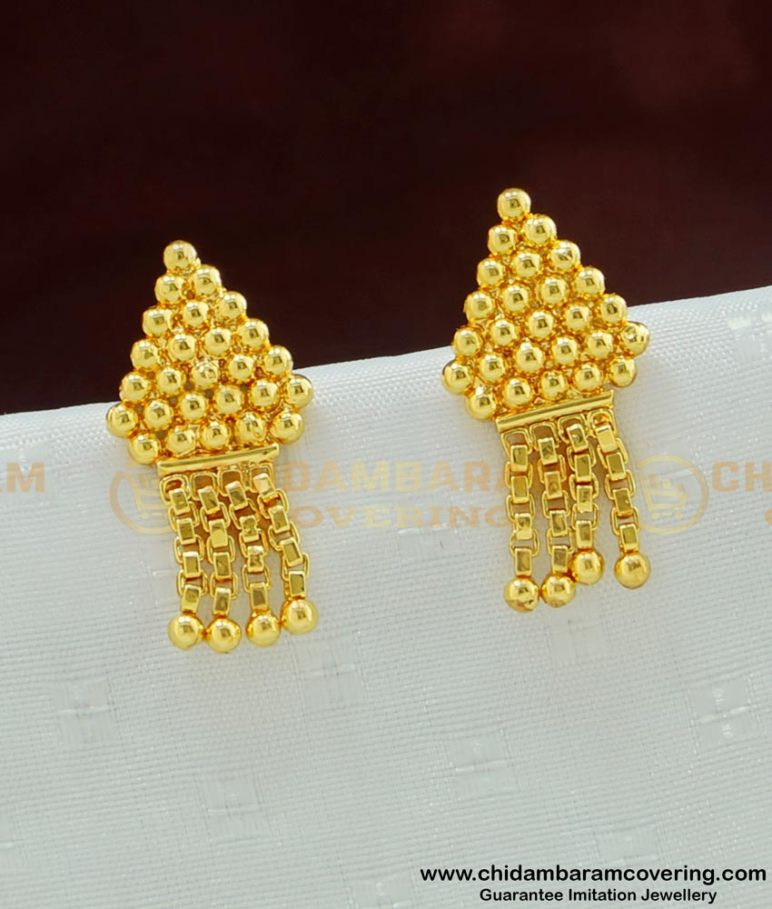 ERG472 - Latest Daily Wear Stunning Gold Designs Earring Imitation Jewellery Online