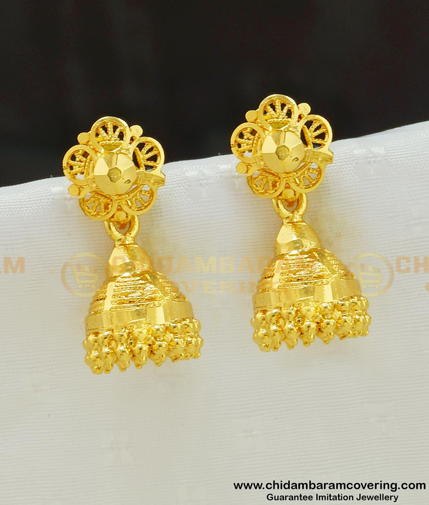 ERG538 - South Indian Jhumkas Design Earring Collections Buy Online Shopping