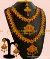 HRM044 - Temple Jewellery Mini Bridal Wedding Jewellery Set Matte Finish Nagas Collection