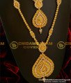 HRM058 - South Indian AD Stone Mogappu And Dollar With Jasmine Chain Kerala Wedding Jewellery Set