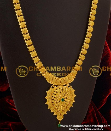 HRM095 - Latest Light Weight Simple Haram Designs Imitation Jewelry Online
