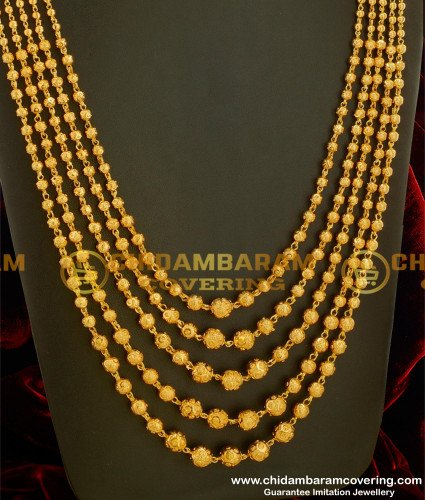 HRM120 - Latest Chandraharam Designs in Gold Plated Jewellery