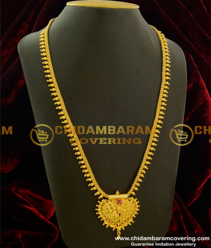 HRM135 - Gold Plated Single Ruby Stone Haram Design for Women