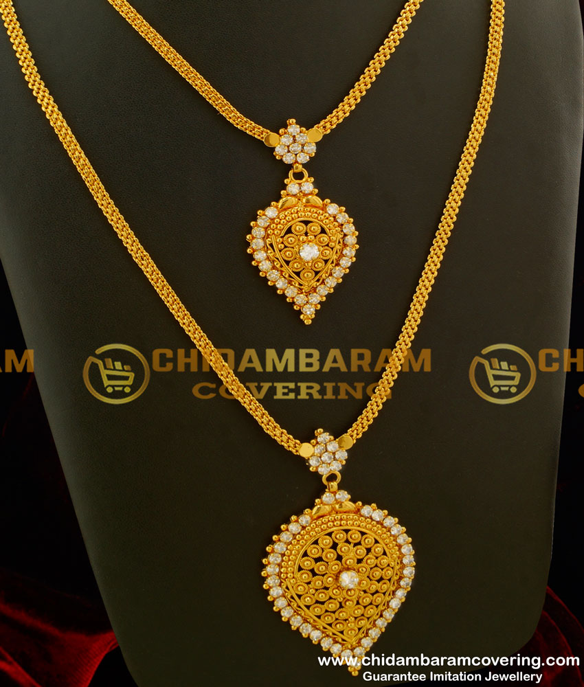 HRM159 - Elegant Simple Design Party Wear Stone Haram and Necklace Combo Set