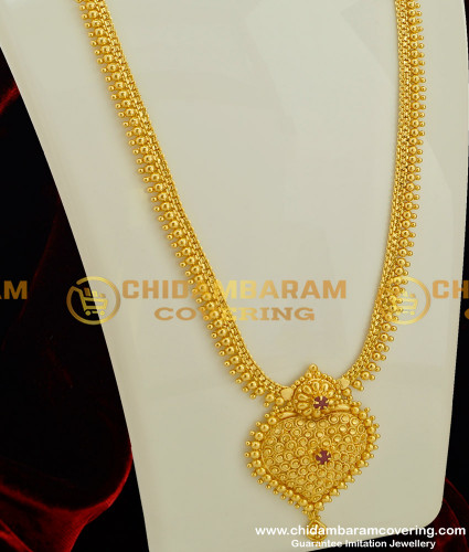 HRM186 - Look Like Gold Designer Long Haram Bridal Jewelry for Wedding