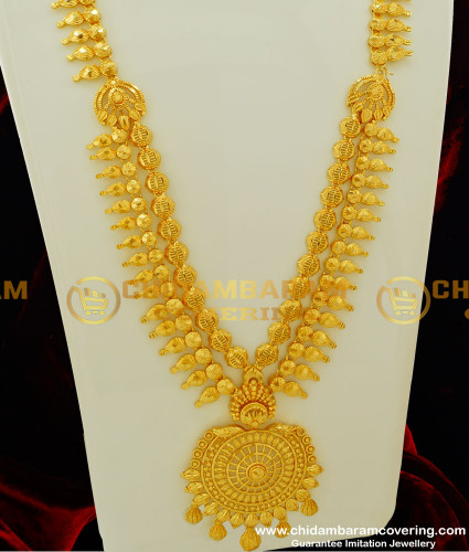 HRM211 - Latest Kerala Model Double Layer Gold Harm Collection Pure Gold Plated Jewellery Online