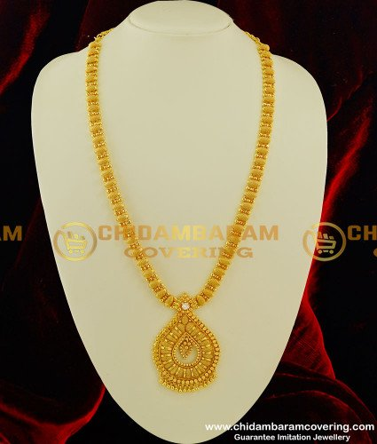 HRM221 - Latest Gold Plated Long Stone Haram One Gram Jewellery Buy Online