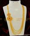 HRM254 - One Gram Gold Bridal Wear Side Pendant Gold Chandraharam Design for Wedding