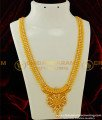 HRM256 - Latest Gold White Stone Long Haram Design Gold Plated Haram for Wedding