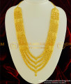 HRM323 - Traditional Wedding Jewelry Four Line Governor Malai Style Gold Plated Long Haram Online