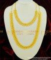 HRM352 - New Leaf Cutting Design Plain Semi Bridal Haram Necklace Combo Set Online