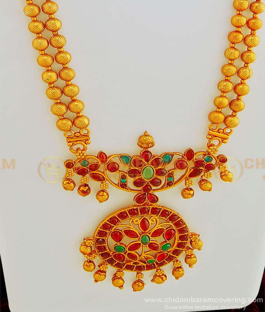 HRM439 - Beautiful Wedding Collection Nagas Temple Haaram Set Indian Fashion Jewellery Online