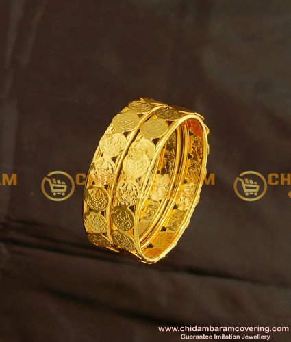KBL012 - 1.18 Size Traditional Lakshmi Coin Bangles for New Born Babies