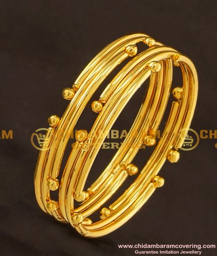 KBL016 - 1.14 Size Gold Design Gold Plated Bangles for Baby Girl