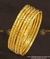 KBL017 - 1.10 Size New Born Baby Bangles Set Of 6 Pieces Gold Plated Thin Bangle Online