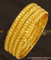 KBL019 - 2.0 Size Traditional One Gram Gold Daily Wear Muthu Bangles for Baby Girl