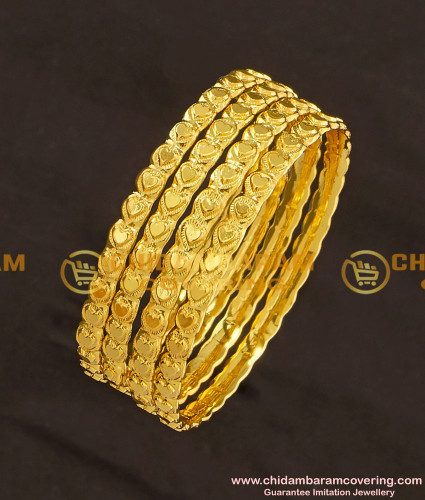 KBL022 - 2.0 Size Latest Baby Bangle Heart Design Daily Wear Bangles Online