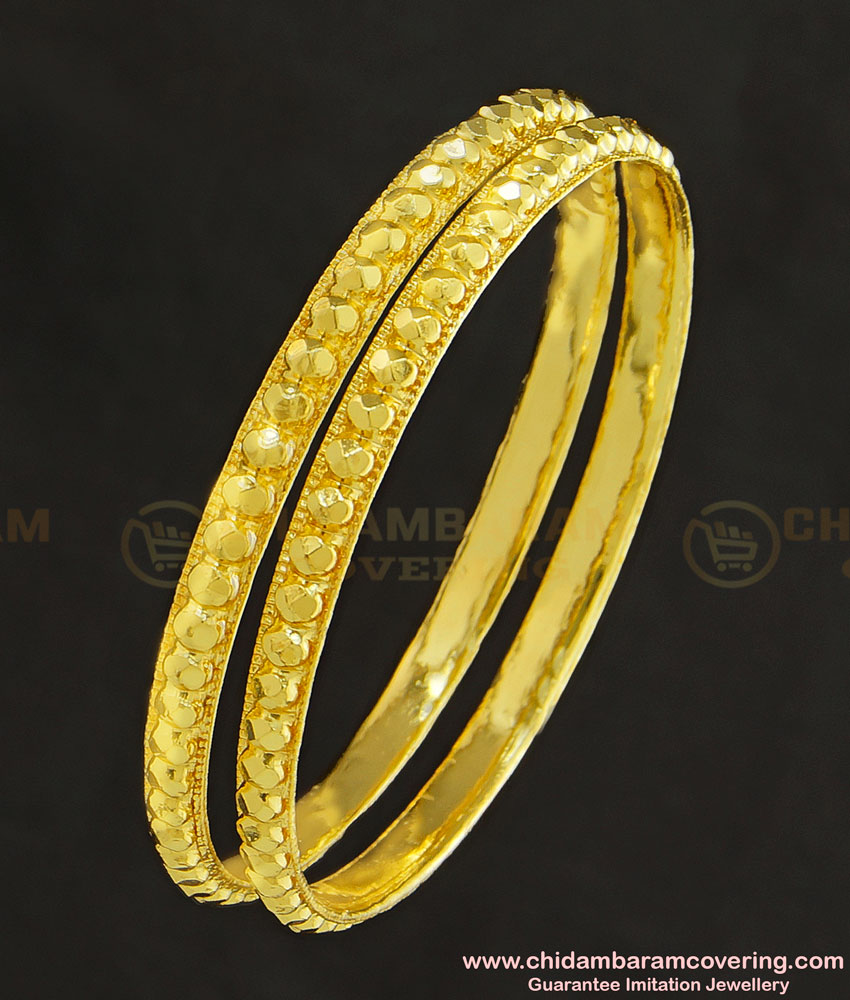 KBL029 - 2.0 Size Traditional One Gram Gold Daily Wear Muthu Bangles for Baby Girl