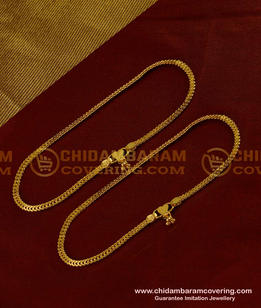 ANK005 - Traditional Chain Design Guarantee Anklet / Payal Design for Women