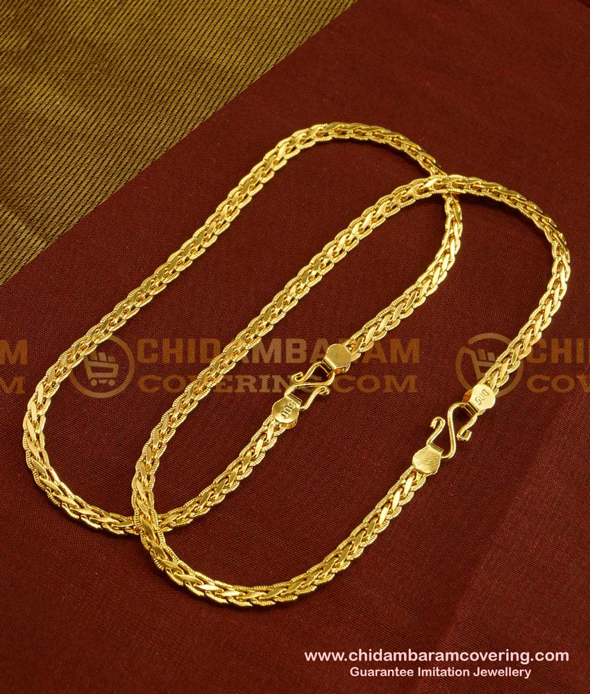 ANK013 - Traditional Gold Chain Type Anklet Payal Design Collections Online