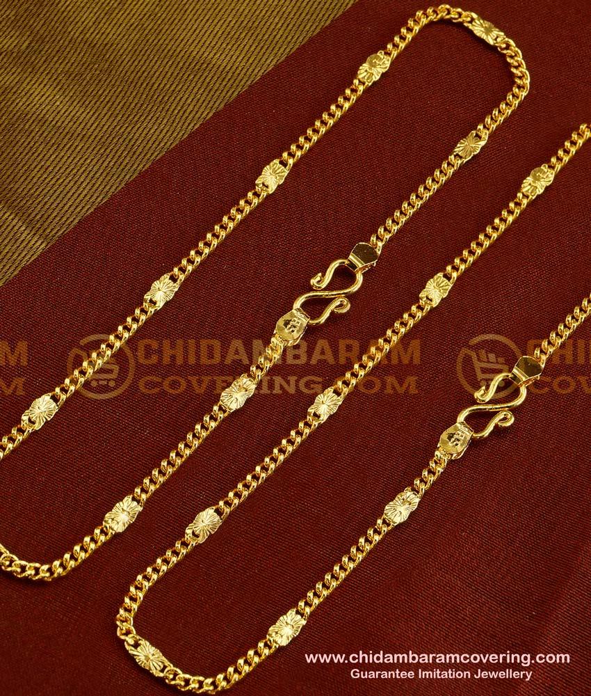 ANK015 - 10 Inch Fashionable Designer Gold Design Bridal Anklet Collections Buy Online